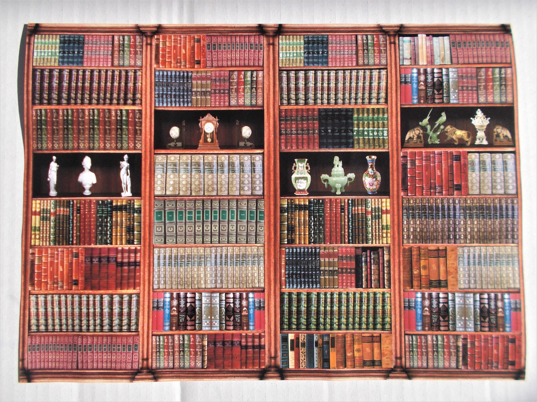 2 sheets library bookcase 1/24 SCALE VINYL matt pvc self adhesive furniture  free shipping