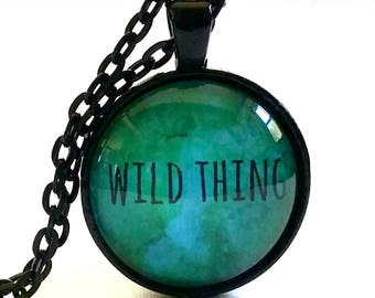 Wild Thing Gift   Wild Thing Necklace   Glass Pendant   Free Gift Box