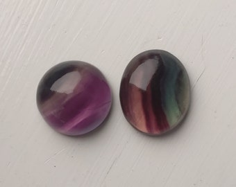 Fluorite Gemstone Cabochon-Fluorite Cabochon-Natural Fluorite Smooth Hand Carved Fancy Shape Cabochon-37x20x7 MM-Wholesalegems-BS8336
