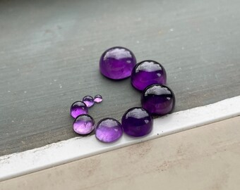 BesT 41x21 mm Amethyst Lace Cabochon Oval Shape Smooth Plain Cabochon Jewelry Making Beautiful Designer Amethyst Wire Wrapped Jewelry
