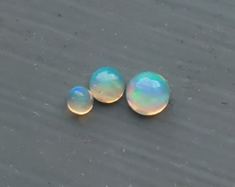 10x Round Opal Cabochon  Welo Ethiopia  Natural Green Red Blue Flash for Jewelry and Wire Wrapping