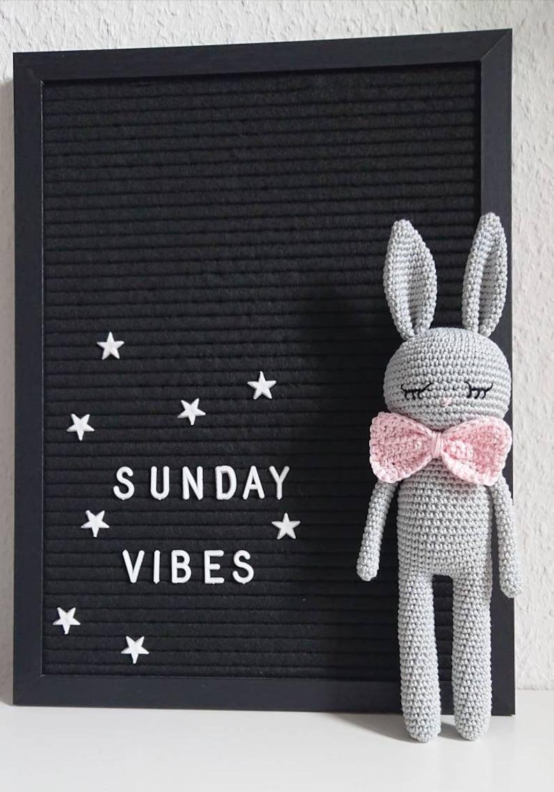 Bunny crocheted bunny Amigurumi crochet animal bunny girl