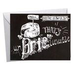 Birthday Brie, Cheese, French, Chalkboard Lettering, Chalkboard Birthday Card, Foodie, Foodie Birthday