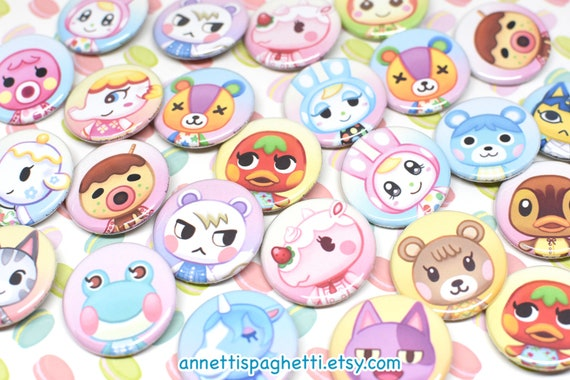 Ac Villagers Button Set 1 Acnl 1 25 Inch Buttons New Etsy