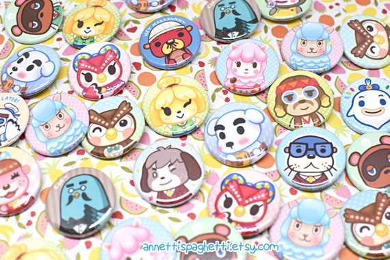 Animal Crossing New Leaf Character Buttons Set 1 ACNL 1.25