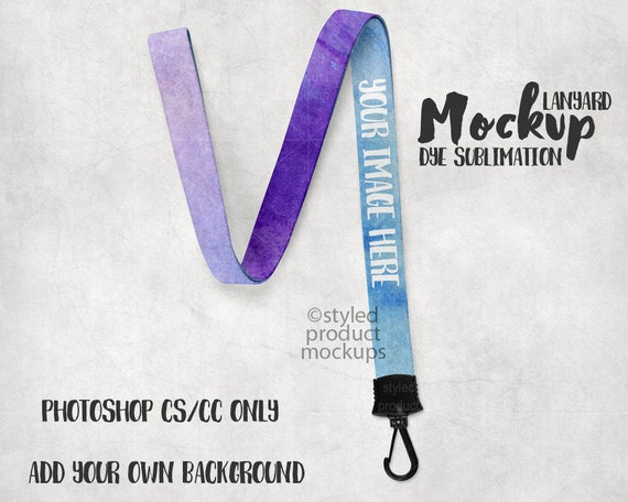 Dye Sublimation Lanyard Mockup Template Add Your Own Free 358796