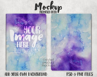 Download Free Dye sublimation large memory book journal template mockup | Add your own image and background PSD Template