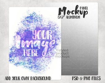 Add your own image and background Dye sublimation 6x6 photo panel with slot kickstand mockup
