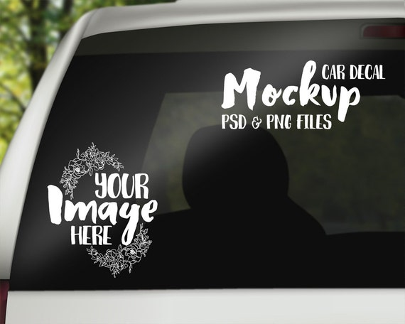 Car decal mockup template digital download stock