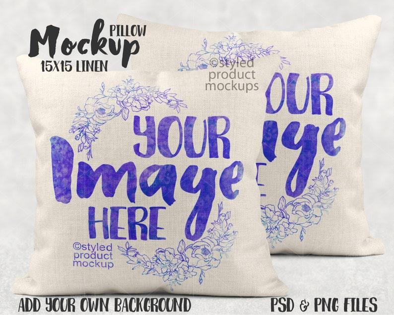 Dye sublimation linen pillow sham