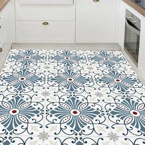 Floor Decal Floor Tile Decal Orange Blossom Tile Sticker Gift Floor Tile Sticker Floor Tiles Floor Vinyl Tile Decal Minimalist