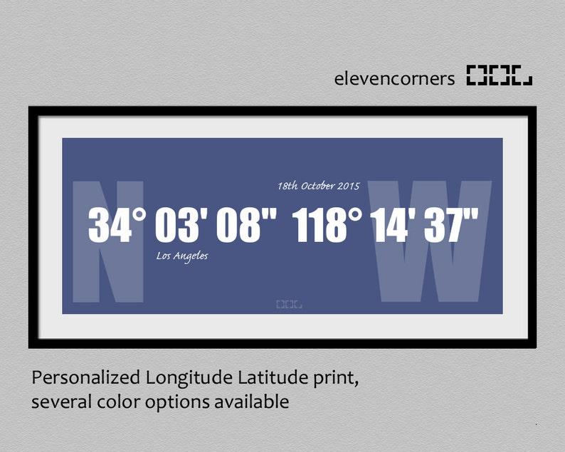 custom longitude latitude print  custom coordinates print  image 0