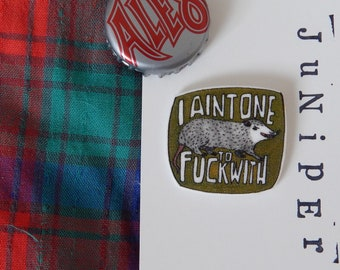 Green Aint One To F*ck With 'Possum Pin