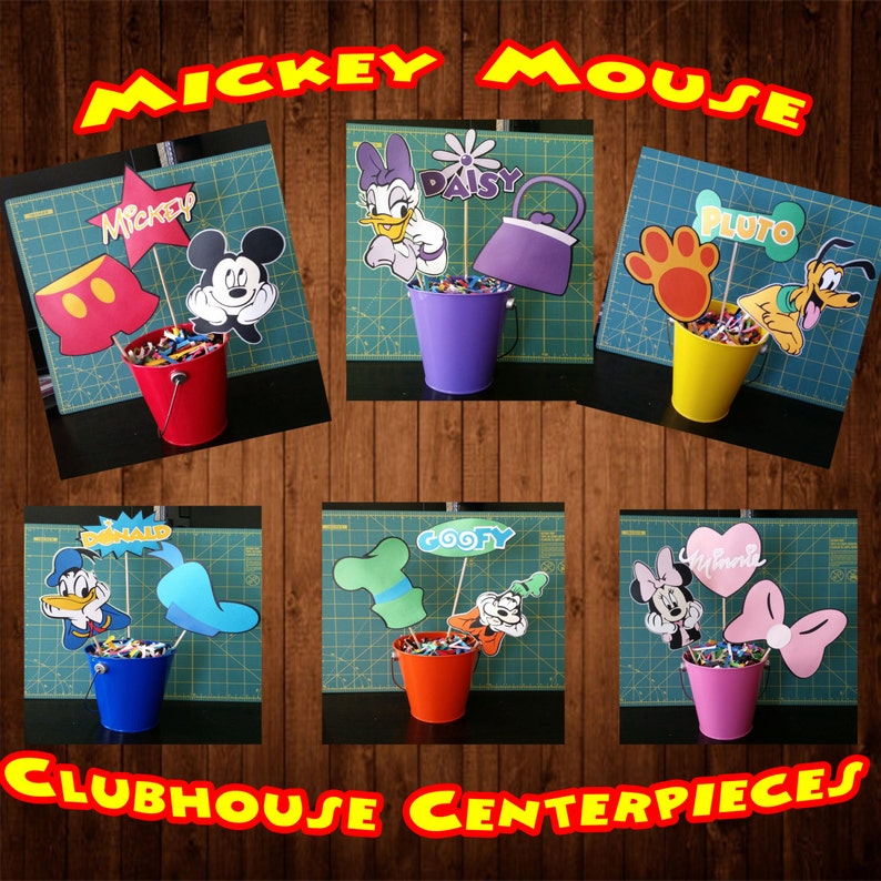 Mickey Mouse Clubhouse Centerpieces Mickey Pluto Minnie  1ad5199297c3
