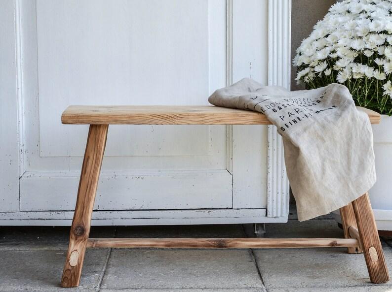 handmade spruce bench massive soft barn woodtableold image 0