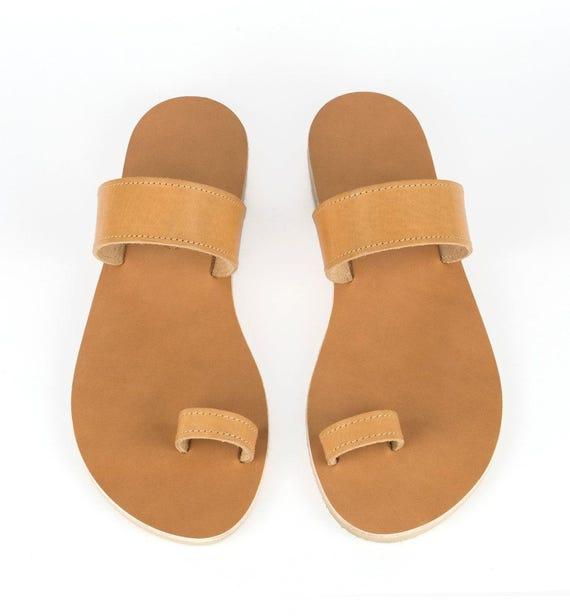 Griechische Sandalen, Leder Sandalen, Sommerschuhe, Ring Sandalen, Sandalen, handgemachte Sandalen, Sandalen für Frauen