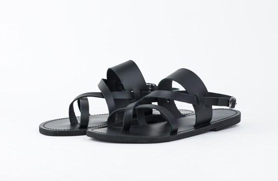 111501103 Sandalias de cuero Strappy sandalias de los hombres