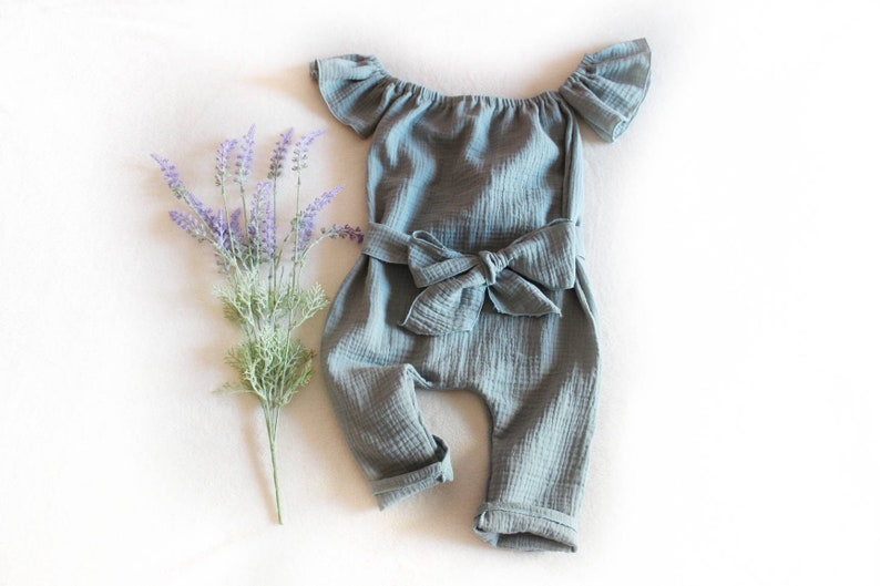1f3f5dff7 Baby girl romper baby girl clothes muslin baby clothes   Etsy