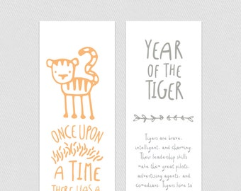 Bookmark - Year of the Tiger
