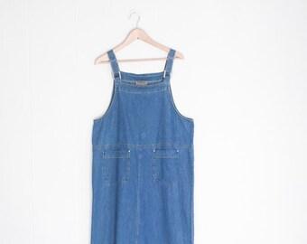 58a86fed009 Overall Dress - Denim Dress - Denim Maxi Dress - Long Denim Dress - Vintage  Denim - Blue Jean Dress - Bib Overalls Dress - Oversized Dress