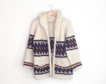 Vintage Jacket - Mexican Clothing - Wool Coat - Winter Jackets - Blanket Jacket - Mexican Wool Jacket - Vintage Boho Sweater - Festival