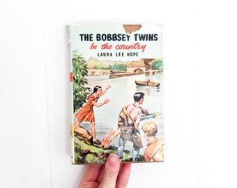 The Bobbsey Twins - Vintage Book - In The Country - Vintage Copy - Old Book - Book Gift - Hardcover Books - Gift for Mom - Book Lover Gift