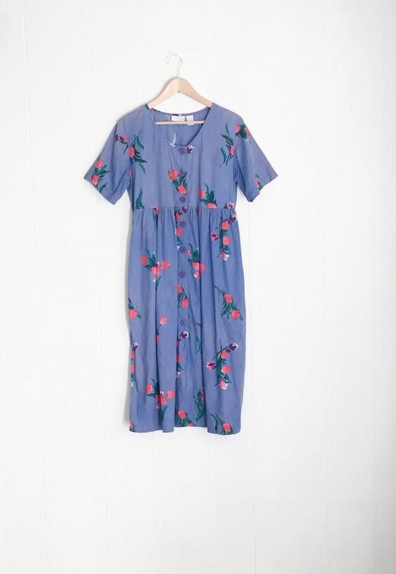 Summer Vintage Dress - Picnic Dress - Vintage Maxi