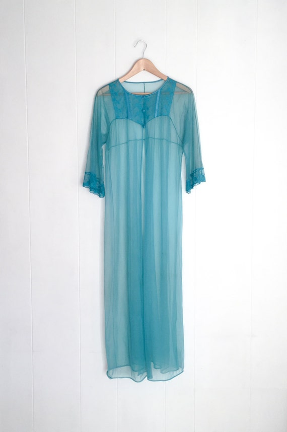 Vintage Robe - Peignoir - Vintage Lingerie - Sheer
