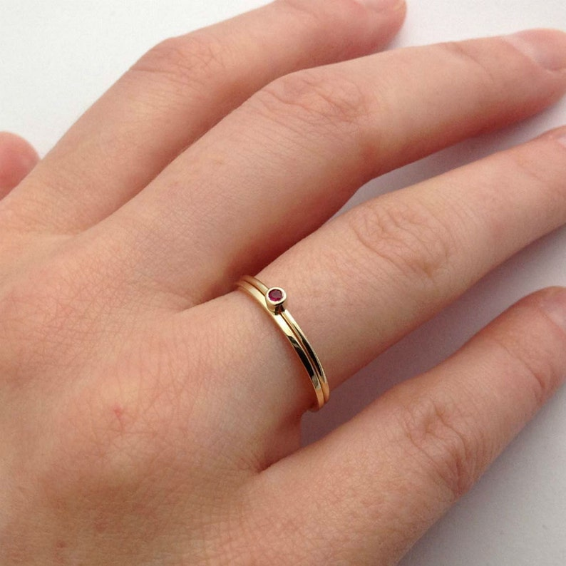Ethical Skinny Plain Stacking Ring 9ct Yellow Gold