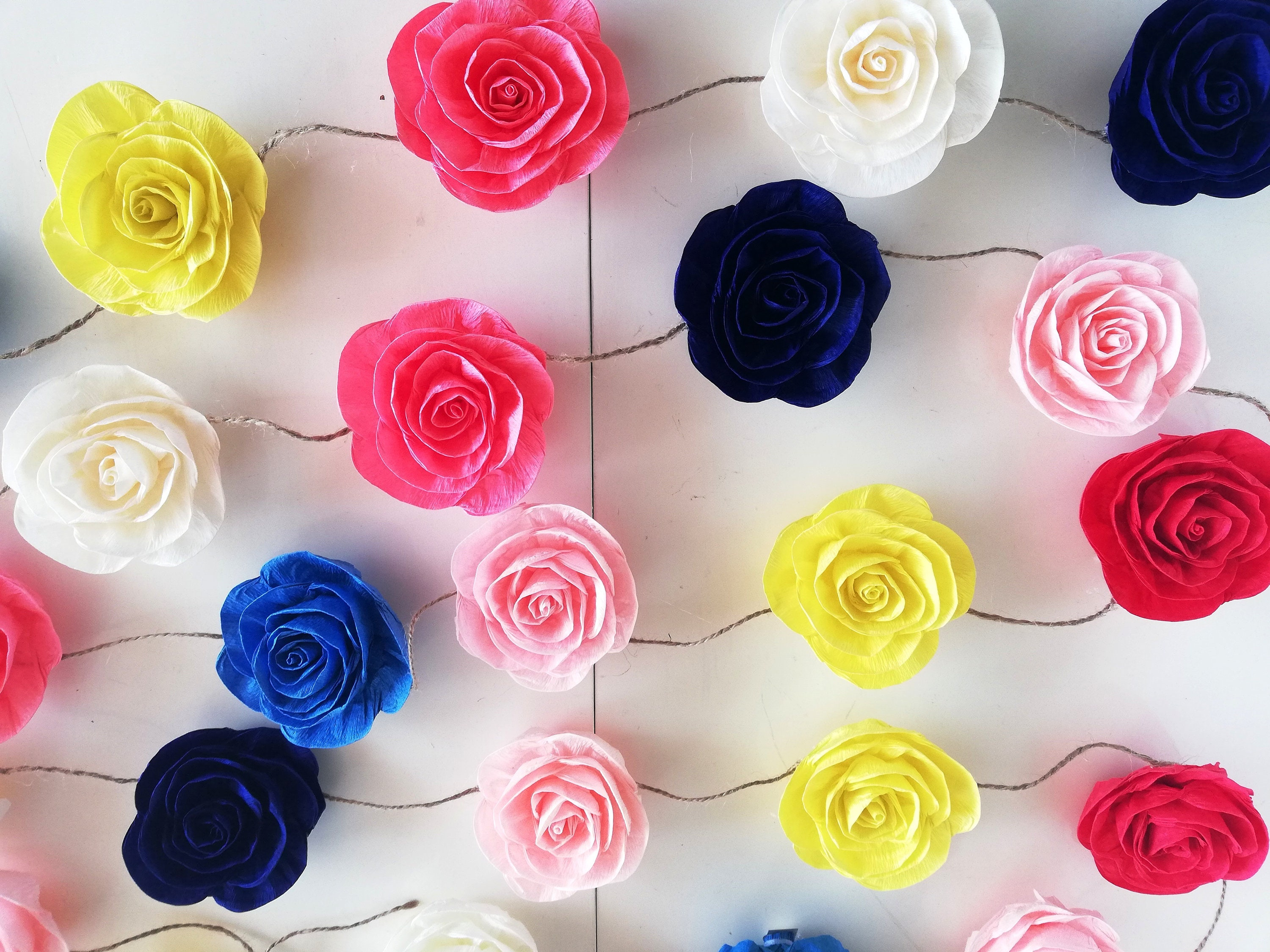 Fiesta Mexican Wedding Garland Crepe Paper Flowers Curtain Etsy