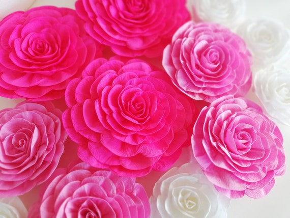 12 large crepe paper flowers wall decor kate bridal spade etsy image 0 mightylinksfo