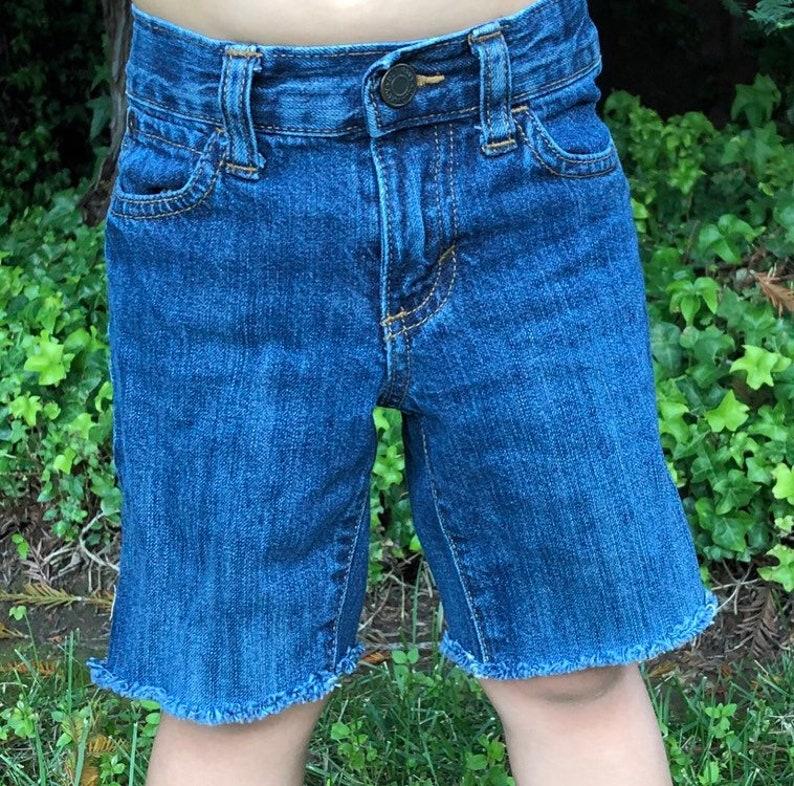 Baby toddler freyed bottom denim shorts