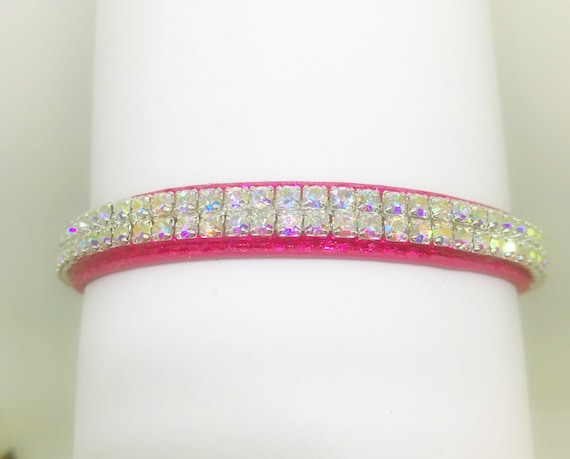 Bling Sugarlicious Pets™  Heavenly Aurora Glow~ Crystal Rhinestone Dog Pet or Cat Safety Collar with Initial Charm  + Optional Leash USA!
