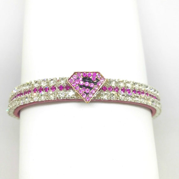 Sugarlicious Pets ™ ~Pink Supergirl ~ Bling Crystal Rhinestone Dog OR Cat Safety Pet Collar + Optional Leash - Gorgeous - USA!
