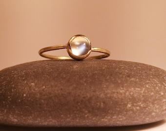 Moonstone engagement ring gold rose gold