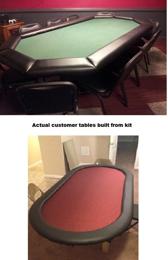 Diy 8 Premium Poker Table Building Kit 13 Color Choices Etsy