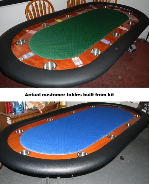 Diy 8 Upgraded Custom Racetrack Poker Table Building Kit 13 Color Choices Build Your Own Poker Tables