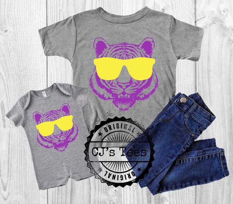 Purple and Gold Toddler Shirt Baby LSU Onesie LSU Tiger Shirt for Kids
