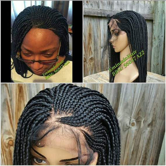 Braided Wig Unit Braids Side Cornrow Can Be Styled 2 Ways Etsy