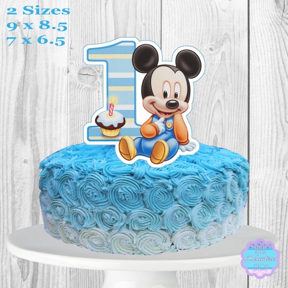 Strange Baby Mickey Mouse Cake Topper Printable You Print Etsy Funny Birthday Cards Online Alyptdamsfinfo