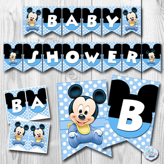 Baby Mickey Mouse Baby Shower Banner Baby Mickey Mouse Etsy