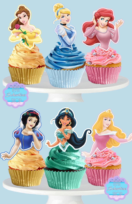 Printable Disney Princess Cupcake Toppers Cupcake Picks Etsy