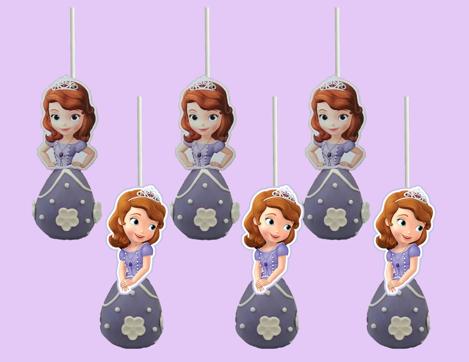 Sofia the First Cake Pop Toppers Cupcake Toppers Cupcake ...