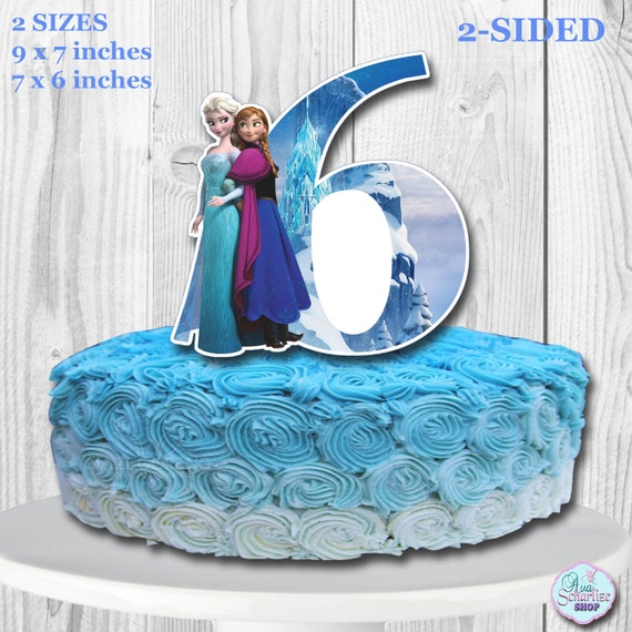 Awesome Disney Frozen Cake Topper 6 Disney Frozen Centerpiece Etsy Funny Birthday Cards Online Elaedamsfinfo