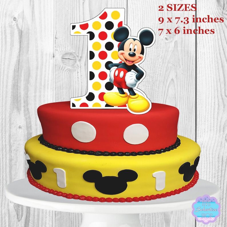 Mickey Mouse Cake Topper, Centerpiece PRINTABLE, You Print