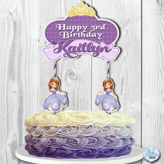 Sofia The First Cake Topper Sofia The First Centerpiece Etsy