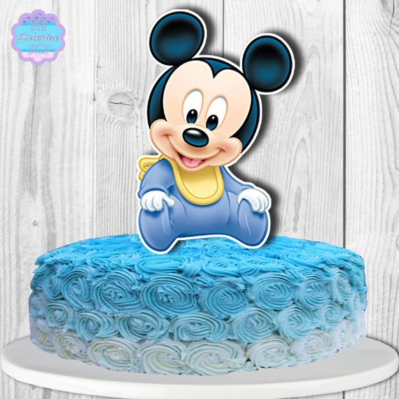 Swell Baby Mickey Mouse Cake Topper Centerpiece Printable You Etsy Funny Birthday Cards Online Alyptdamsfinfo