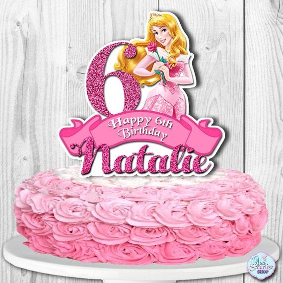 Aurora Cake Topper Sleeping Beauty Cake Topper Disney Etsy