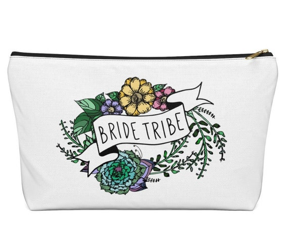 Bride Tribe Accessory Pouch T Bottom | Pencil Case | Makeup Bag | Bridesmaid Pouch | Bridal Party Gift | Boho Wedding