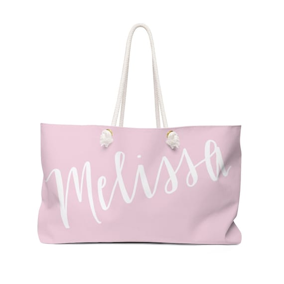 Large Tote Bag Personalized With Name - Oversized Weekender Tote Beach Bag, Christmas Holiday Gift for Daughter, Sister, Girlfriend, Wife